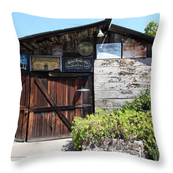 Old Storage Shed At The Swiss Hotel Sonoma California 5d24458 Throw Pillow by Wingsdomain Art and Photography
