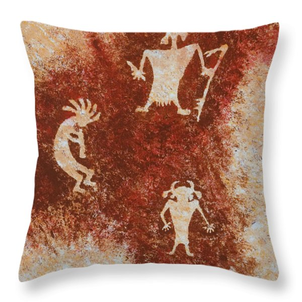 Old Stories Throw Pillow by Jerry McElroy