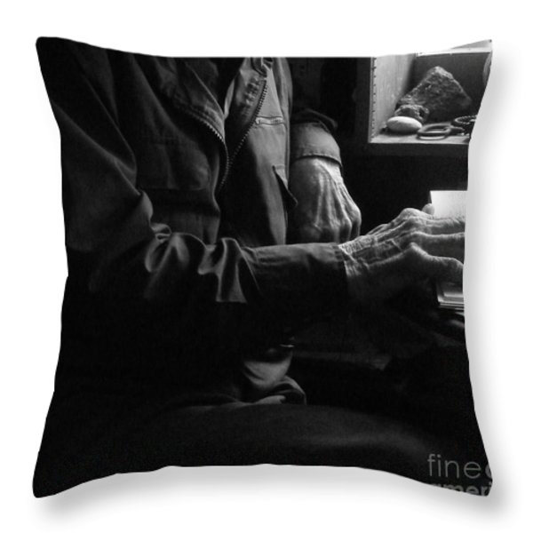 OLD TESTAMENT WISDOM Throw Pillow by Joe Jake Pratt