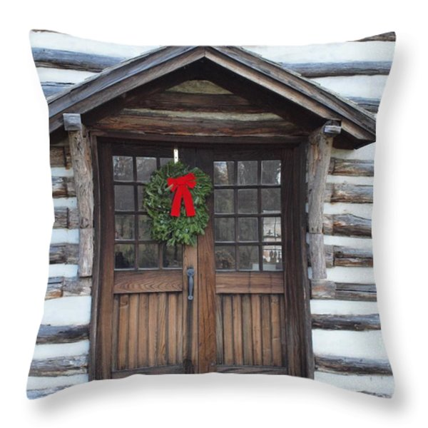 Old Time Door Throw Pillow by Robert Margetts