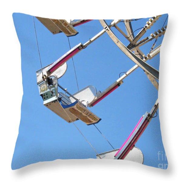 Old Time Ferris Wheel Throw Pillow by Ann Horn