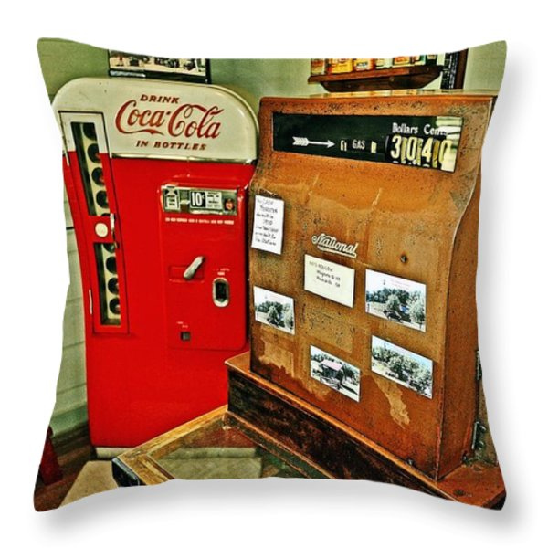 Old Time Station Throw Pillow by Marty Koch