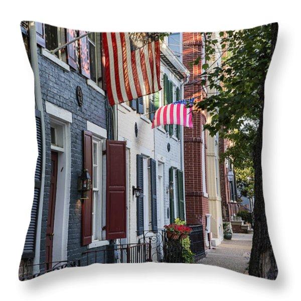 Old Town Alexandria Throw Pillow by John Greim