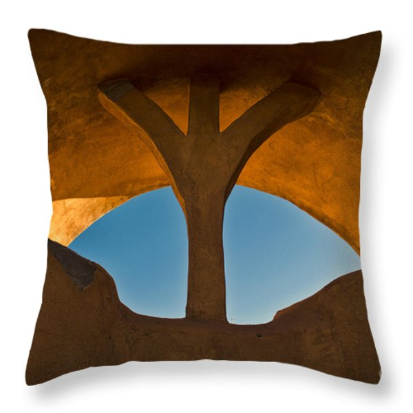 Old Town Archway No. 1 Throw Pillow by David Gordon