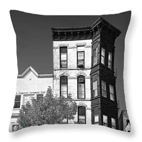 Old Town Chicago - The Second City Throw Pillow by Christine Till