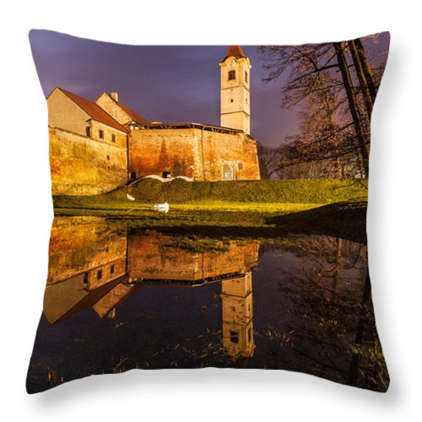 Old Town Throw Pillow by Davorin Mance
