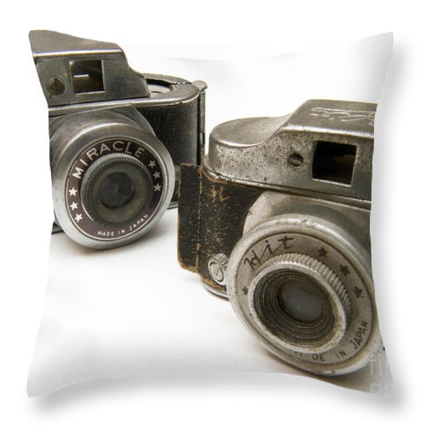 Old Toy Cameras Throw Pillow by Amy Cicconi
