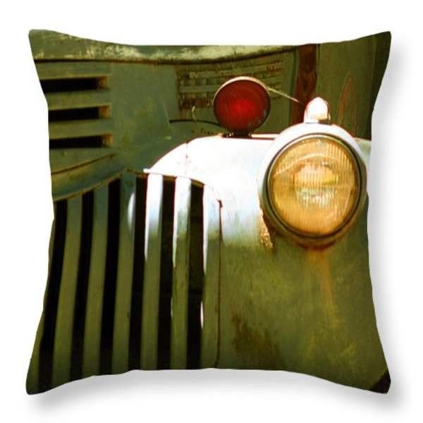 Old Truck Abstract Throw Pillow by Ben and Raisa Gertsberg