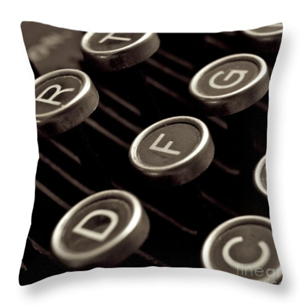 Old typewriter Throw Pillow by BERNARD JAUBERT