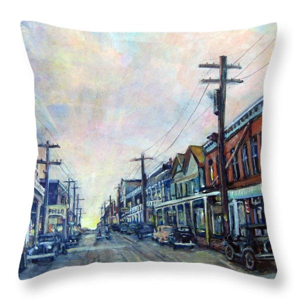 Old Virginia City Throw Pillow by Donna Tucker