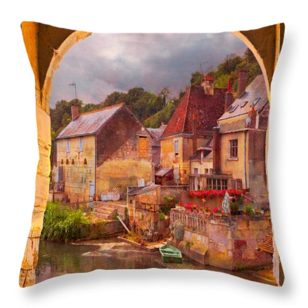 Old World Throw Pillow by Debra and Dave Vanderlaan