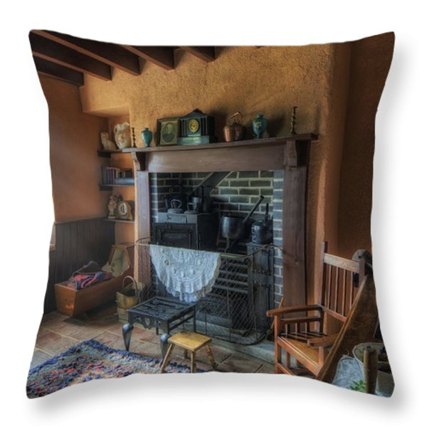 Olde Cottage Throw Pillow by Ian Mitchell