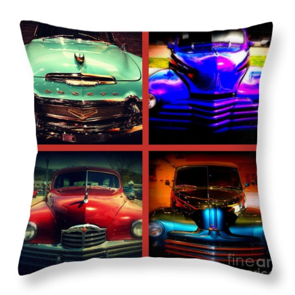 Oldtimer Collage Throw Pillow by Susanne Van Hulst