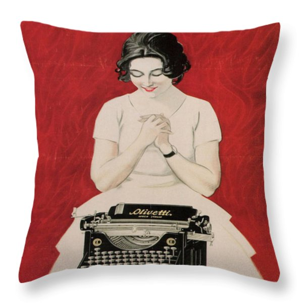 Olivetti Throw Pillow by Nomad Art And  Design