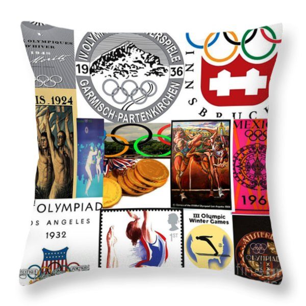 Olympic Memories Throw Pillow by M and L Creations