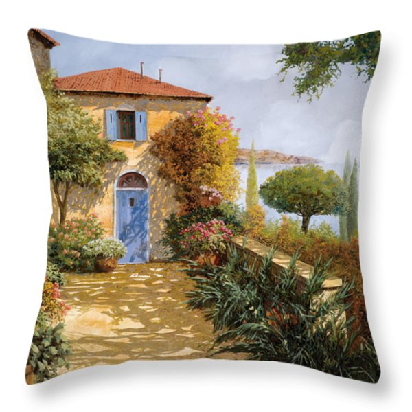 Ombre Sul Terrazzo Throw Pillow by Guido Borelli