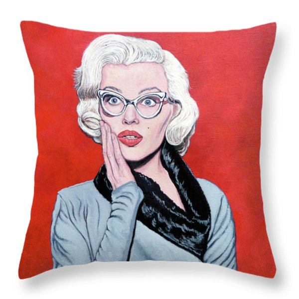 OMG Throw Pillow by Tom Roderick