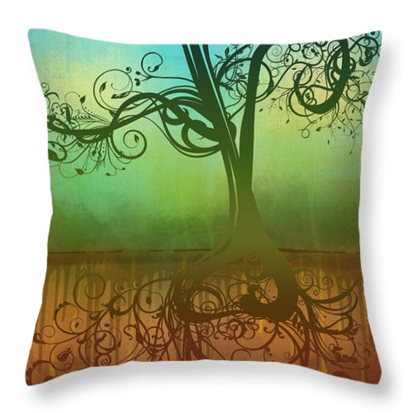 Omid Throw Pillow by Ryan Burton