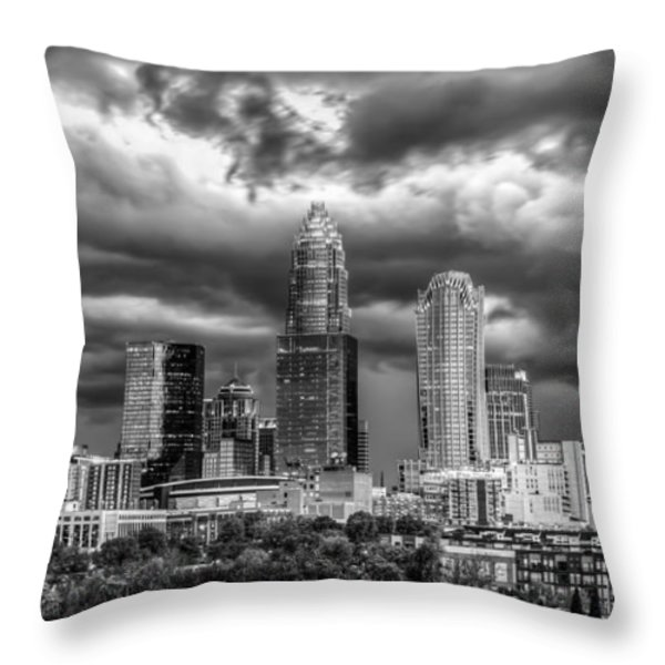 Ominous Charlotte Sky Throw Pillow by Chris Austin