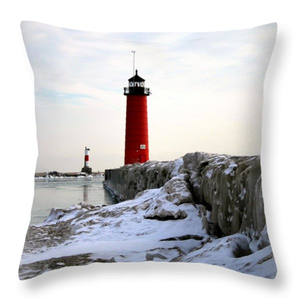 On A Cold Winter's Morning Throw Pillow by Kay Novy