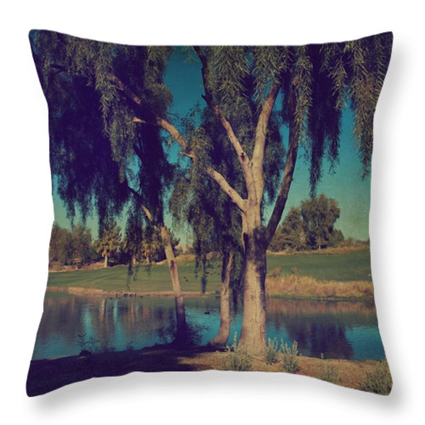 On A Lazy Afternoon Throw Pillow by Laurie Search