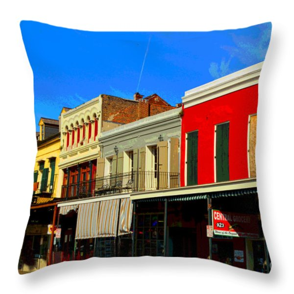 On Decatur Street Throw Pillow by Alys Caviness-Gober