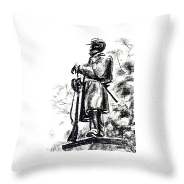 On Duty in Brigadoon  No CH101 Throw Pillow by Kip DeVore