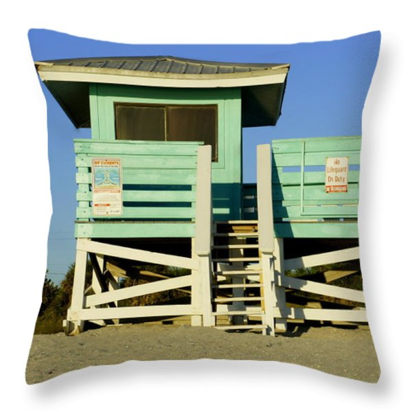 On Duty Throw Pillow by Laurie Perry