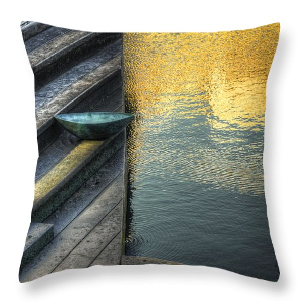 On Golden Pond Throw Pillow by Wayne Sherriff