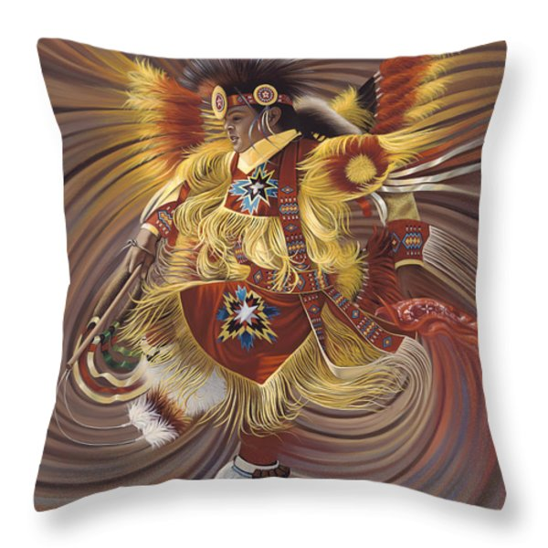 On Sacred Ground Series 4 Throw Pillow by Ricardo Chavez-Mendez