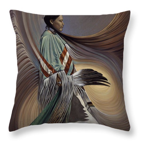 On Sacred Ground Series I Throw Pillow by Ricardo Chavez-Mendez