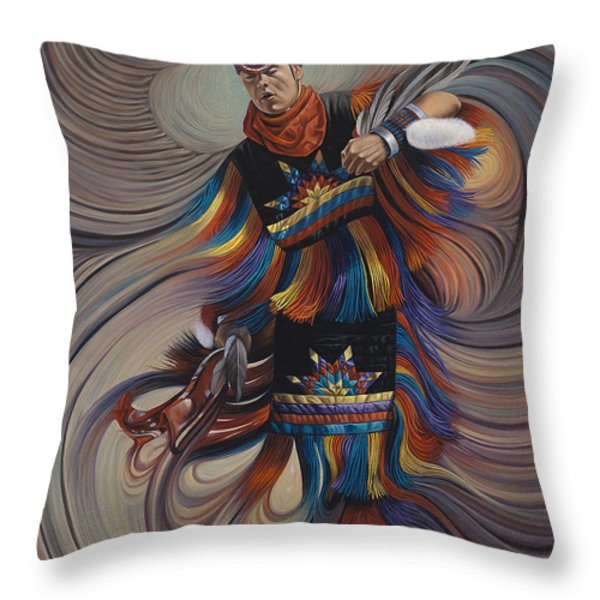 On Sacred Ground Series II Throw Pillow by Ricardo Chavez-Mendez