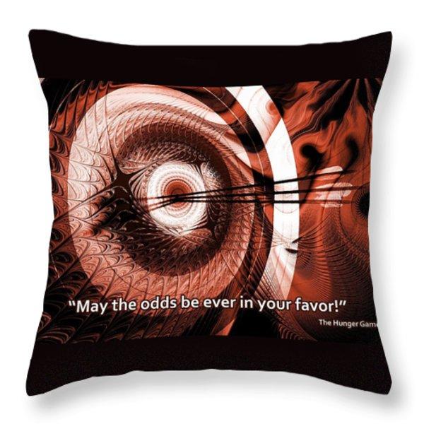 On Target Throw Pillow by Anastasiya Malakhova