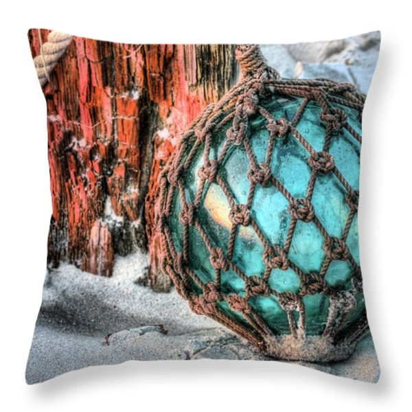 On the Beach Throw Pillow by JC Findley