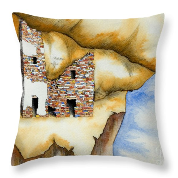 On The Edge Throw Pillow by Jerry McElroy