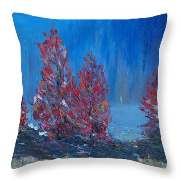 On The Edge Of The Big Woods Throw Pillow by Conor Murphy