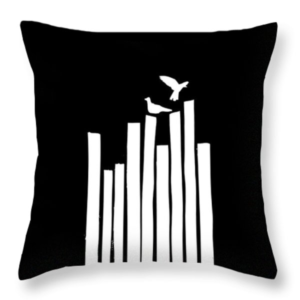 On the Fence Throw Pillow by Budi Satria Kwan