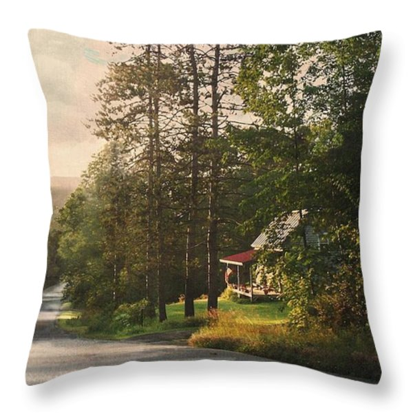On The Fourth Of July Throw Pillow by Joy Nichols