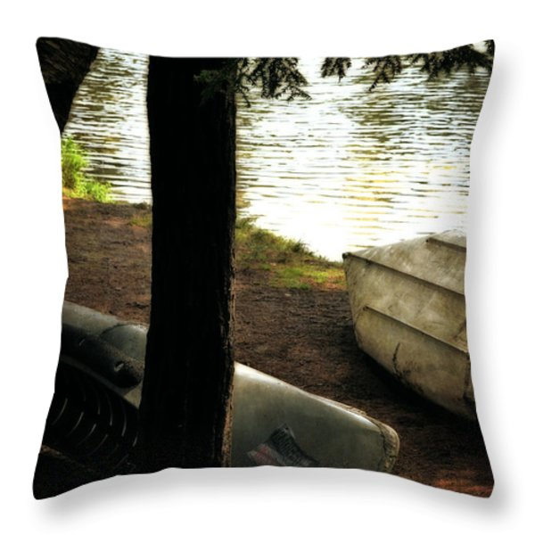 On The Island Throw Pillow by Michelle Calkins