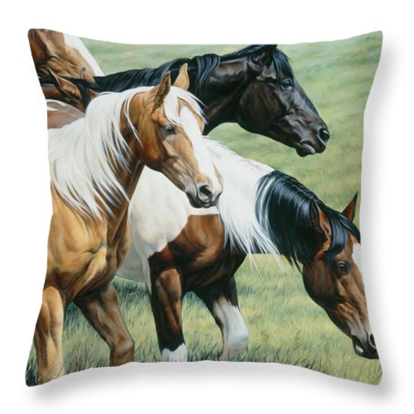 On The Move Throw Pillow by JQ Licensing