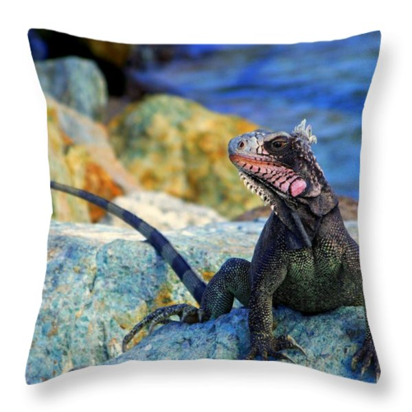 ON the PROWL Throw Pillow by KAREN WILES