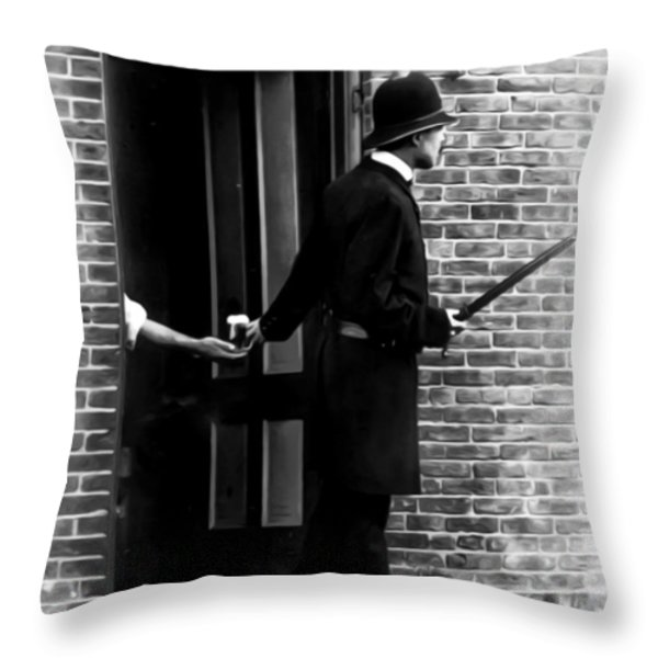 On The Qt Throw Pillow by Bill Cannon