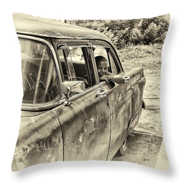 On The Road Throw Pillow by Phil Callan Photography