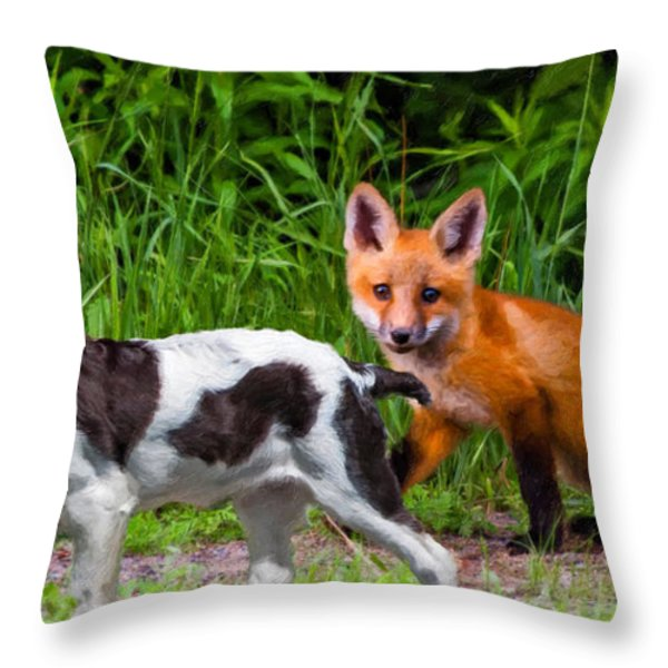 On the Scent impasto Throw Pillow by Steve Harrington