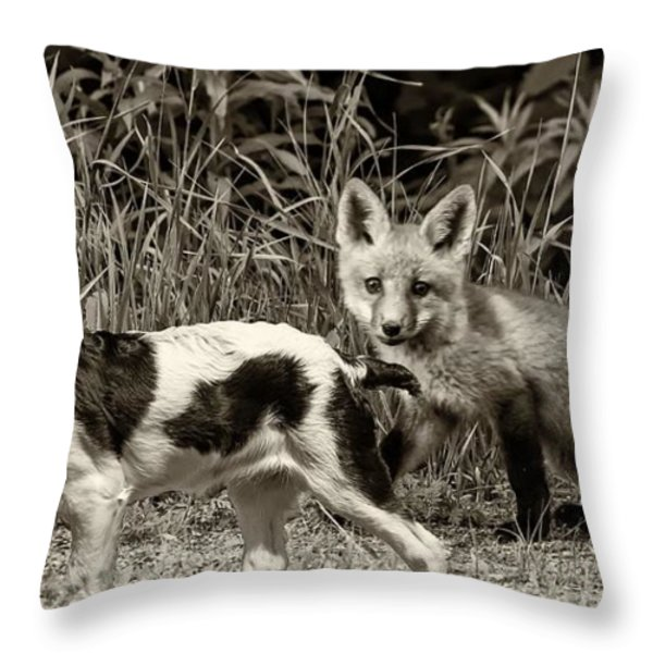 On the Scent sepia Throw Pillow by Steve Harrington