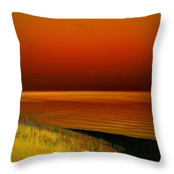 On The Shore Throw Pillow by Michelle Calkins