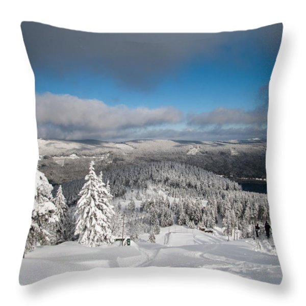 on the Wurmberg II Throw Pillow by Andreas Levi