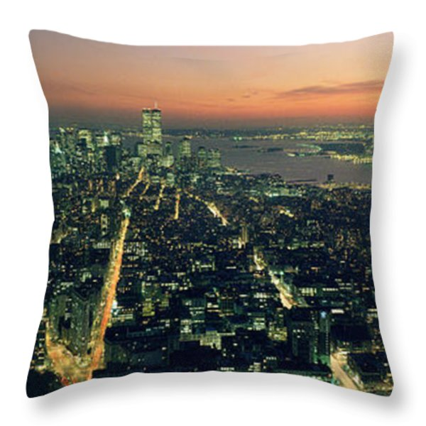 On Top Of The City Throw Pillow by Jon Neidert