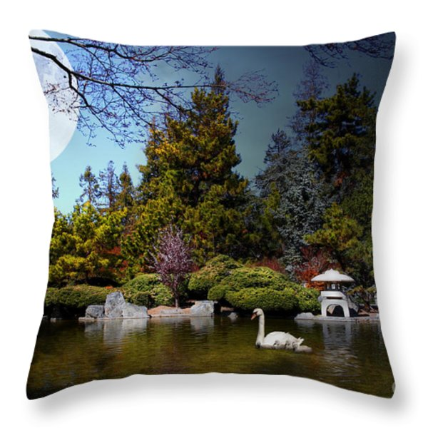 Once Upon A Time Under The Moon Lit Night . 7D12782 Throw Pillow by Wingsdomain Art and Photography