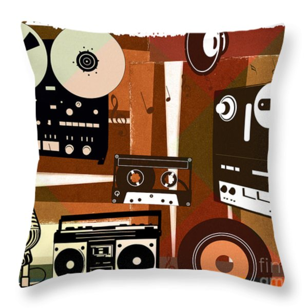 Once Upon Audio Throw Pillow by Bedros Awak